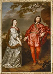 Dubbelportret van Johan van Wassenaer (1576-1645) en zijn tweede echtgenote Clara de Hinojosa (1587-1631)