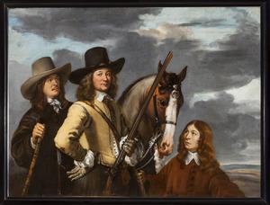 Portret van Willem Everwijn (?-1667), met twee jagers