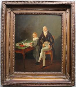 Dubbelportret van Marinus Gerardus van Stapele (1768-1832) en Jacob Johan Stapele (1796-1870)