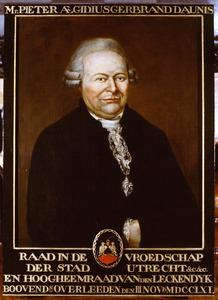 Portret van Pieter Egidius Gerbrand d' Aulnis (1705-1761)