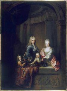 Portret van de familie Maupertuis