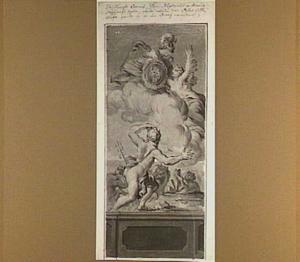Coronis wordt door Neptunus achtervolgd en door Minerva in een kraai veranderd (Metamorfosen 2:569-594)