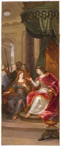 Batseba vraagt Salomo op verzoek van Adonia om hem Abisag als vrouw  te geven  (1 Koningen 2:19-24)