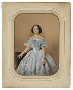 Portret van een vrouw, mogelijk Frederika Diederica van Rappard (1829-1911)