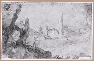 Berglandschap met figuur