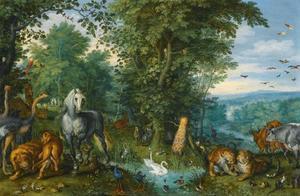 Het hof van Eden met de zondeval (Genesis 2-3)