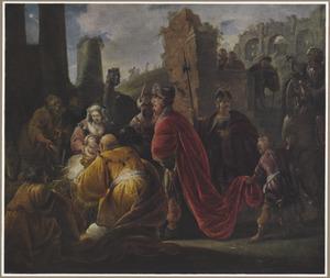 De aanbidding der Koningen (Matteus 2:11)