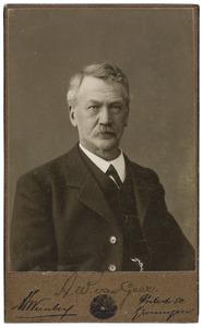 Portret van A.W. van Geer