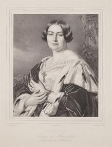 Portret van Katharina Wilhelmine Marie Josepha zu Hohenlohe -Waldenburg-Schillingsfuerst (1817-1893)
