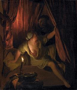 Gyges in de slaapkamer van koning Candaules