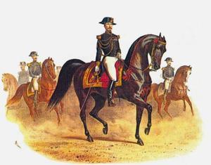 De kolonel Ecuyer-en-Chef van de Ecole impériale de Cavalerie, L'Hotte op Laruns