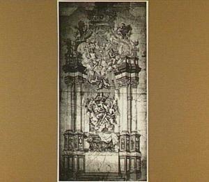Ontwerp voor een Maria-Tenhemelopneming altaar