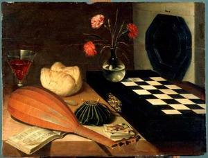 Stilleven met schaakbord
