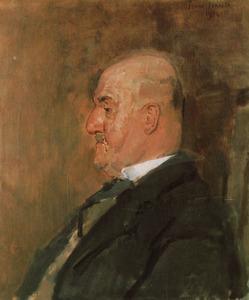 Portret van de schrijver Karel Joan Lodewijk Alberdingk Thijm (1864-1952), alias Lodewijk van Deyssel