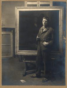 Hendrik Wiegersma in zijn atelier