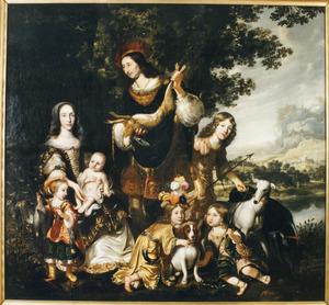 Portret van een familie, mogelijk van Berend van Ittersum tot Gerner (....-1650) en Frederika Geertruida von Fridagh (....-1682)