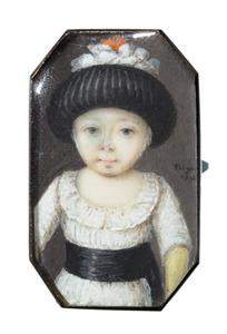 Portret van een meisje van 18 maanden, mogelijk Sophia Wilhelmina Petronella van Heeckeren van Kell (1772-1847)
