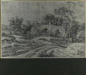Duinlandschap met boerderij
