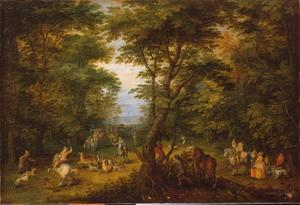Hertenjacht in het bos