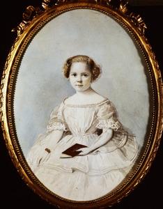 Portret van Wilhelmina Cornelia van den Brandeler (1854-1954)