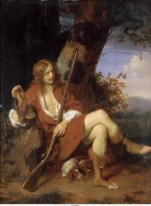 Zelfportret van Ary de Vois (1632/1635-1680) als een jager