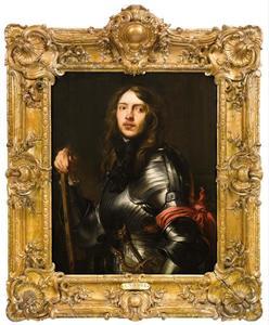 Portret van een onbekende man in harnas