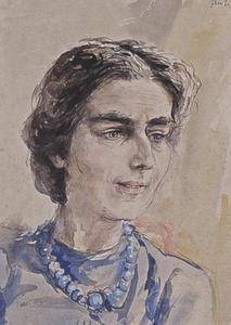 Portret van Christina Maartje Dingemans ( -1950)