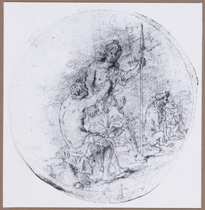 Venus tracht Adonis te verhinderen om te gaan jagen