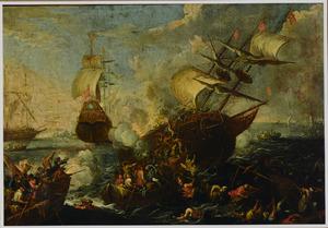 Zeegevecht met de entering van een Ottomaans schip