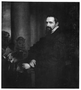 Portret van Aubert Le Mire (Aubertus Miraeus) (1573-1640), historicus en theoloog van Brussel