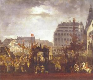 Hommage aan de erfkoning op 18 oktober 1660