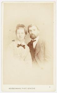 Dubbelportret van Johanna Adriana Scholten en Jules Lenoir