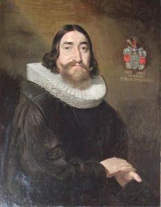 Portret van Bisschop Erik Eriksen Pontoppidan van Trondheim (1616-1678)