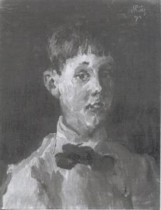 Portret van P.J. Glerum op tienjarige leeftijd