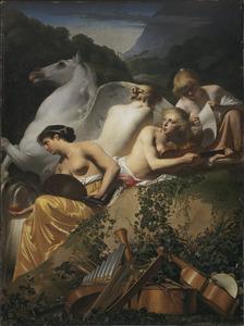 Vier Muzen en Pegasus