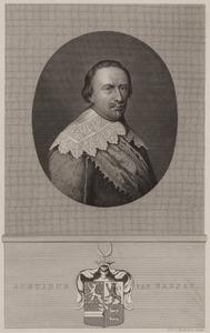 Portret van een man, ten onrechte geïdentificeerd als Justinus van Nassau