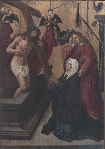 Christus als Man van Smarten, Maria en Johannes de Evangelist