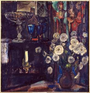 Boeket witte bloemen in interieur