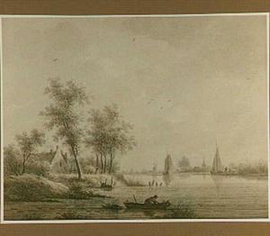 Gezicht op het dorp Capelle aan den IJssel