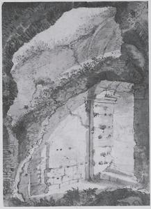 Doorzicht in de gewelven van het Colosseum (?)