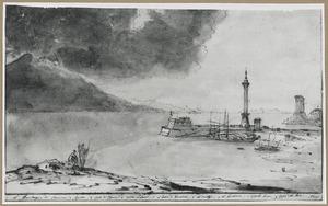 De baai van Napels met de Vesuvius