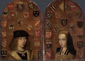 Tweeluik met de portretten van Philips de Schone (1478-1506) en zijn zuster Margaretha van Oostenrijk (1480-1530) als kinderen