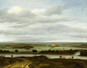 Weids rivierlandschap bij Rhenen met Huis Ter Lede