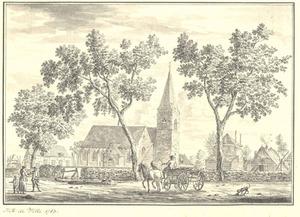 Putten, gezicht op het dorp met de kerk