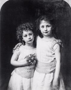 Dubbelportret van Cornelie Marie Boreel (1879-1957) en Agnes Boreel (1880-1961)