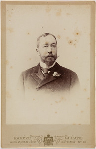 Portret van een man, waarschijnlijk Othon Daniel van der Staal (1853-1937)