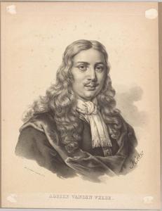 Portret van Adriaen van de Velde (1636-1672)