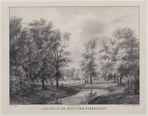 Gezicht op het landgoed van de hofstede Watervliet