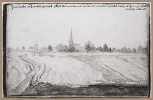 Landschap met gezicht op Diever in Drenthe
