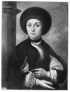 Portret van een vrouw met een bontmuts